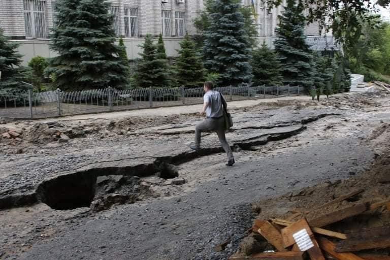 В Днепре на Крестьянском спуске в третий раз за два месяца размыло дороги, - ФОТО, фото-6