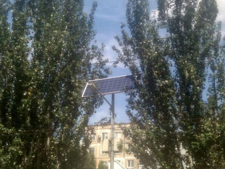 В Днепре на одной из улиц установили солнечные панели, - ФОТО, фото-1
