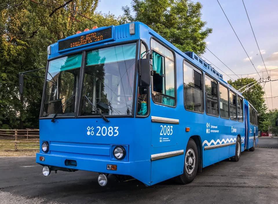 В Днепре троллейбусы перекрашивают в одинаковый цвет, - ФОТО, фото-1
