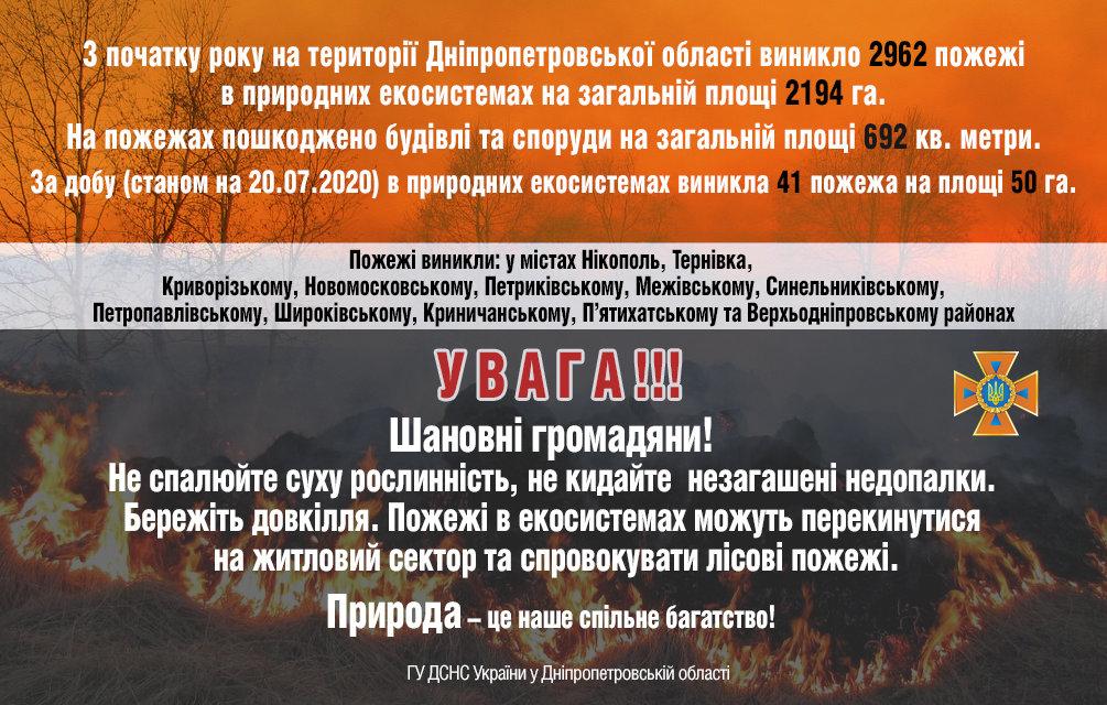 Горели 50 гектаров: жители Днепропетровщины продолжают палить траву, - ФОТО, фото-1