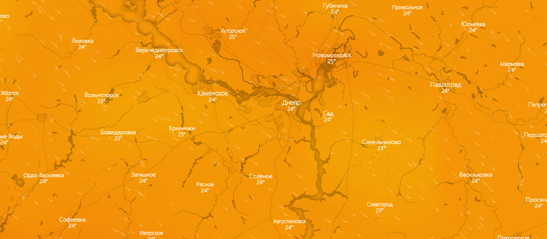 погода в Днепре 31 июля
