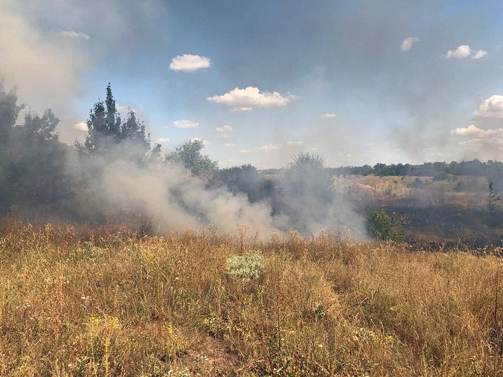 Почти 50 пожаров за сутки: спасатели просят жителей Днепропетровщины не сжигать траву, - ФОТО, фото-6
