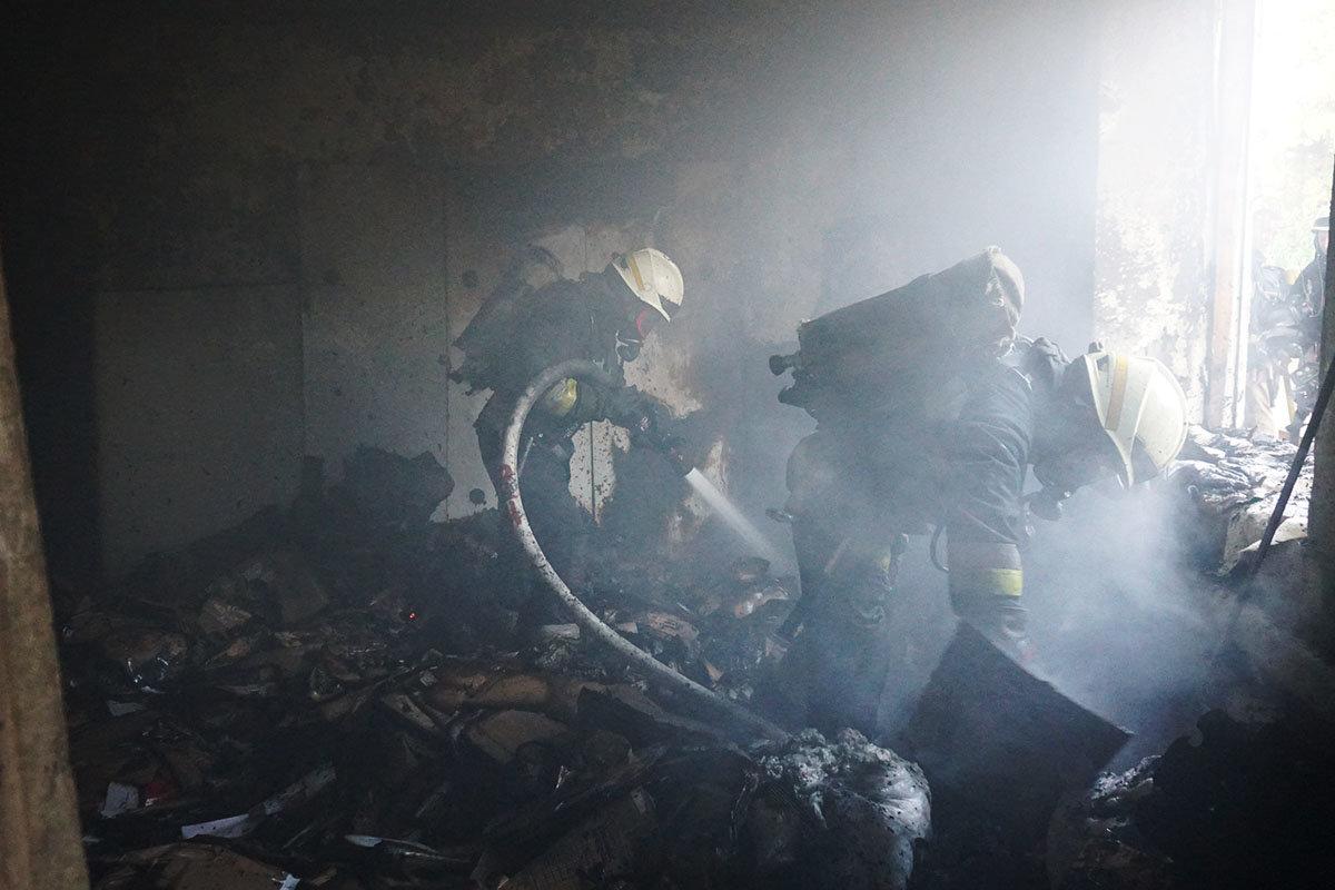 В Днепре горел склад, - ФОТО, ВИДЕО, фото-8