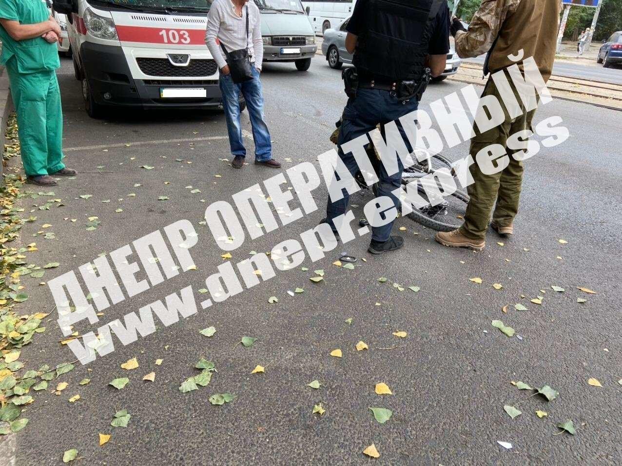 В Днепре мужчина на иномарке сбил велосипедиста, - ФОТО, фото-1