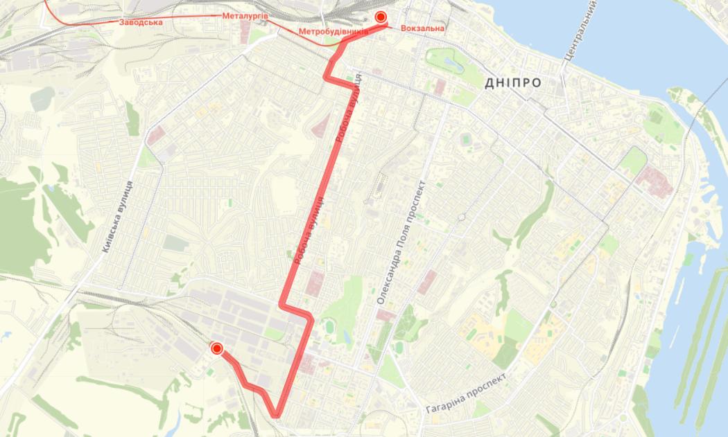 Маршрут трамвая №11