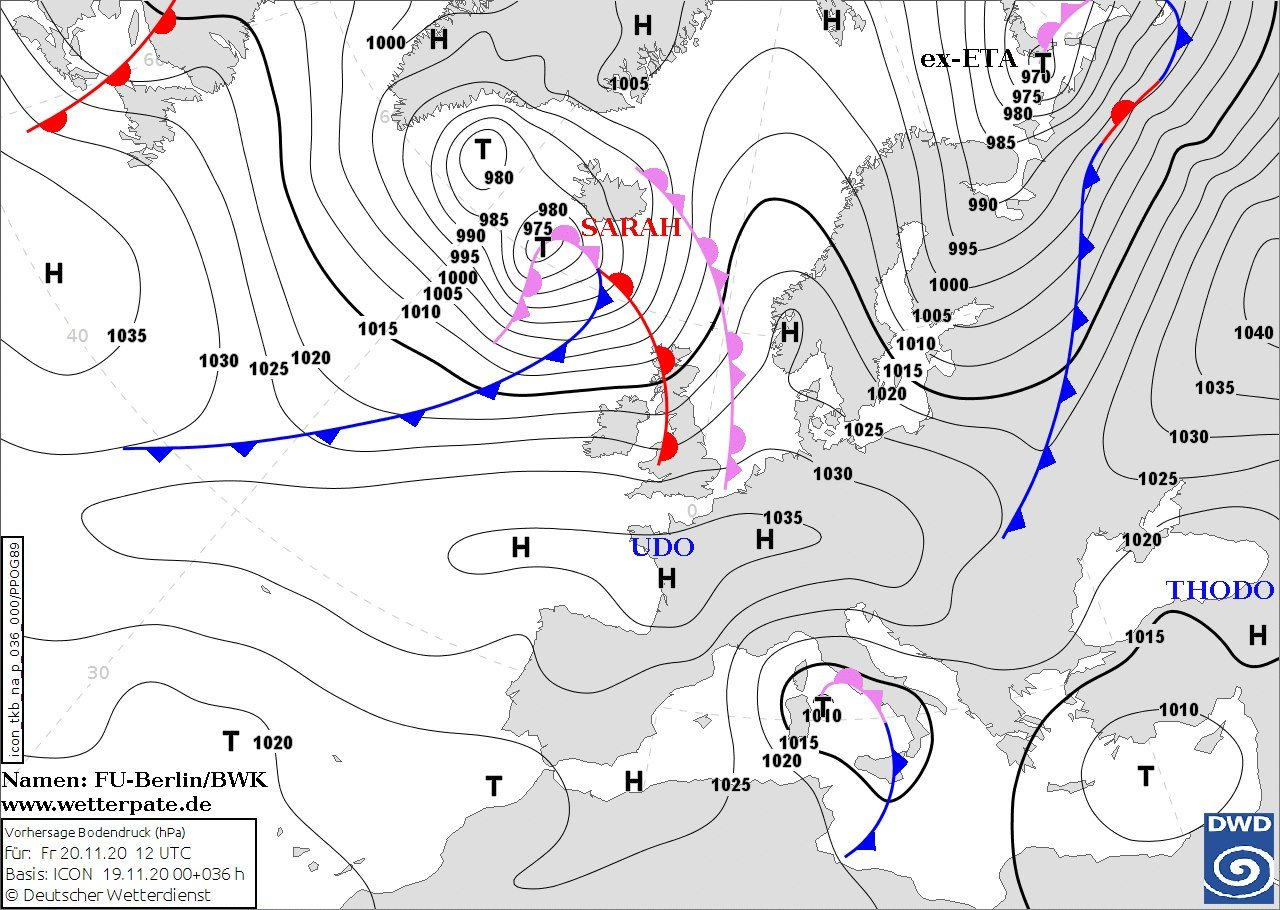 В Украину идёт северный циклон: какая погода будет в Днепре