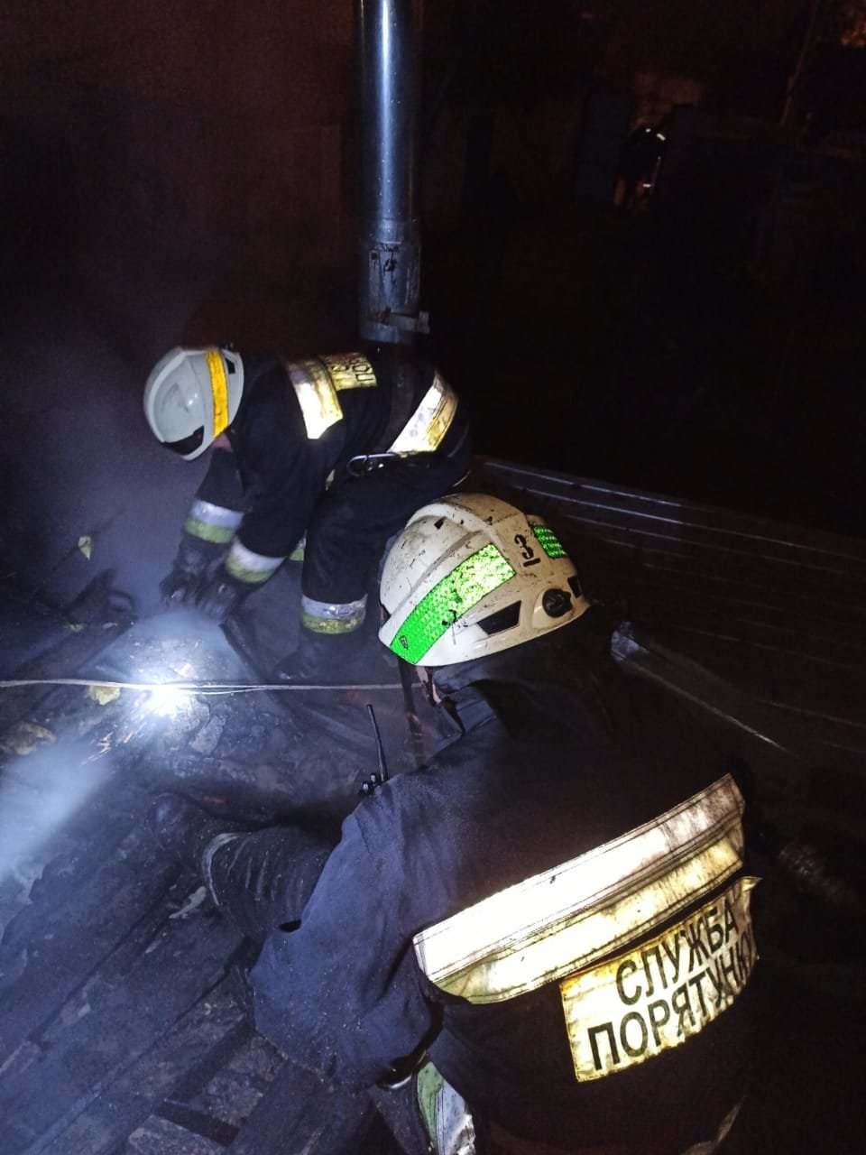Пожар в Днепре, горел жилой дом