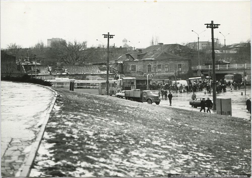 Вид с ул. Ломаная, примерно 1988-1990-е годы