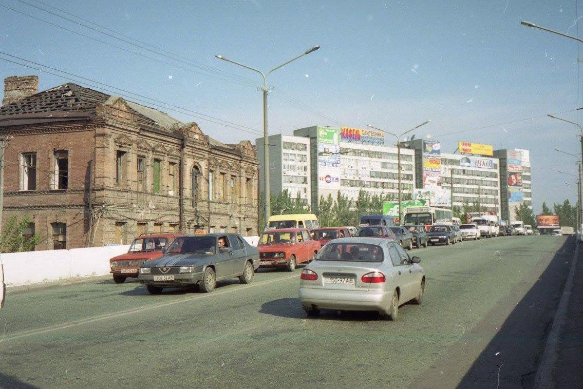 Съезд с Центрального моста на ул. Коцюбинского, 1990-е годы