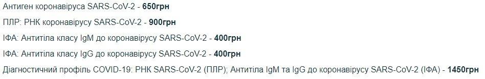 """Стоимость тестирования в """"Invitro"""""""