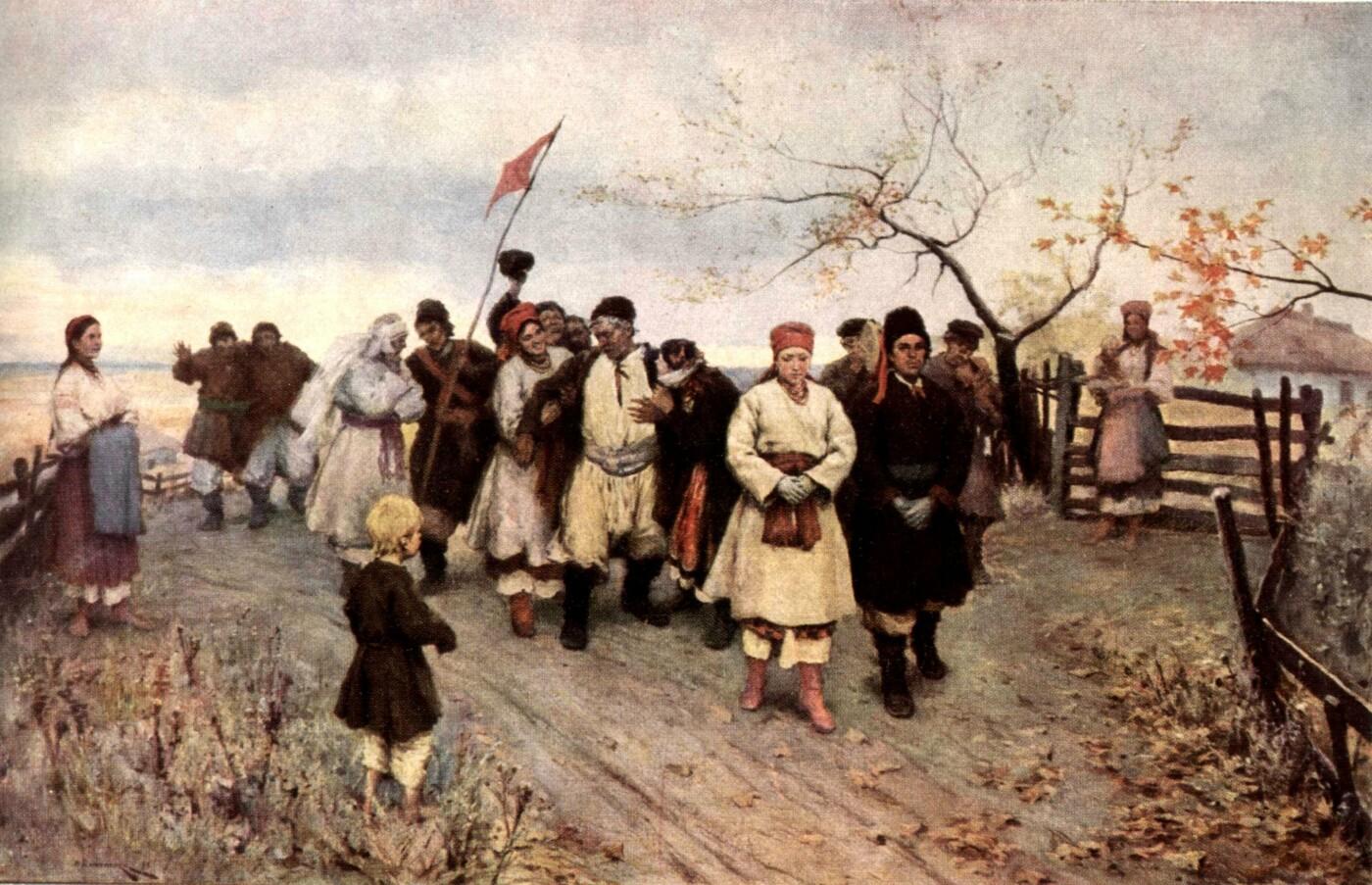 """Николай Пимоненко, """"Свадьба в Киевской губернии"""""""