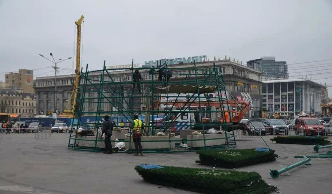 Елка на площади Героев Майдана