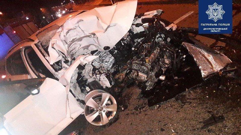 Авария в Днепре, фото Патрульной полиции