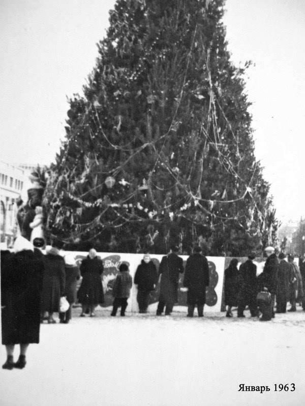 Новогодняя ёлка на нынешней площади Героев Майдана, 1963-й год
