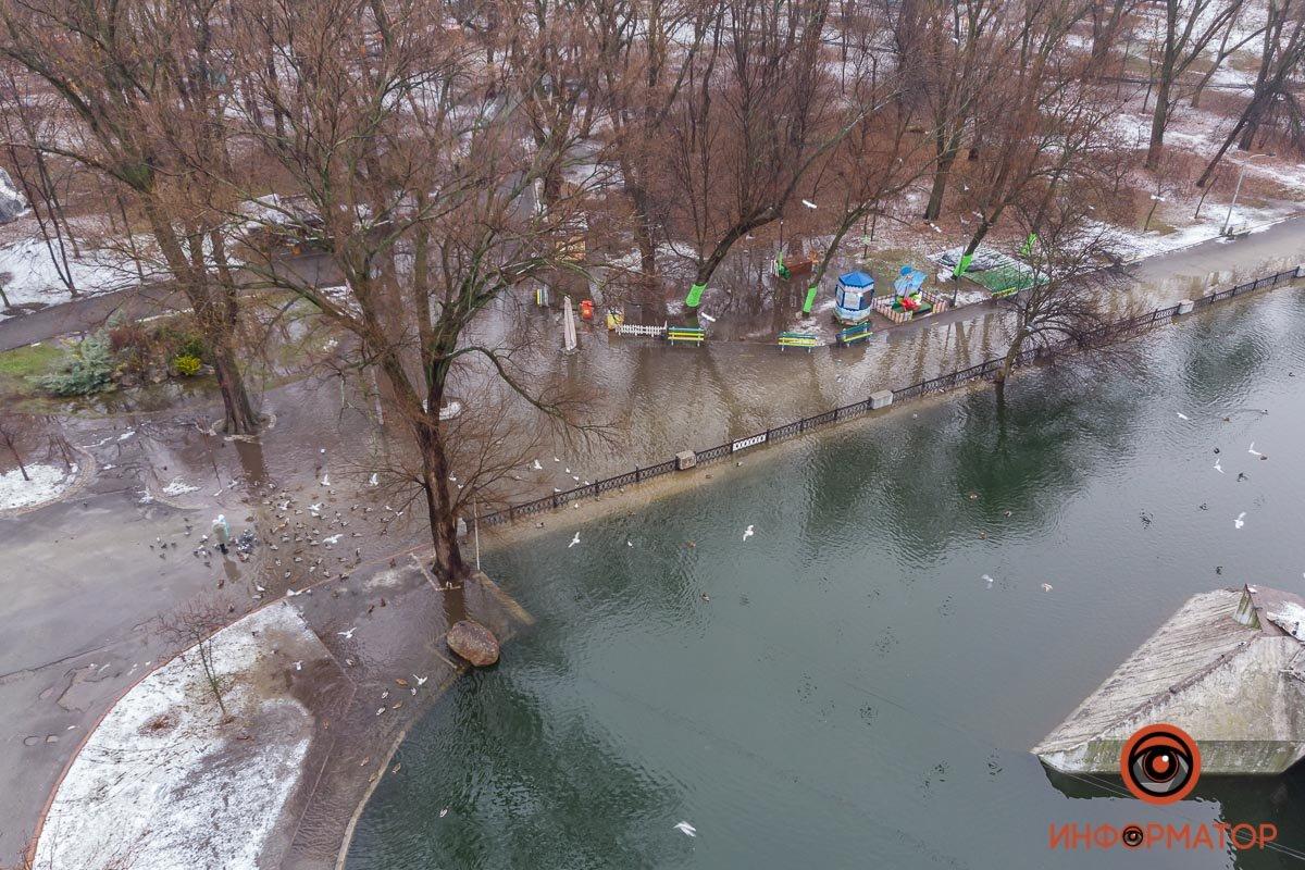 В Днепре затопило парк Глобы, фото-3