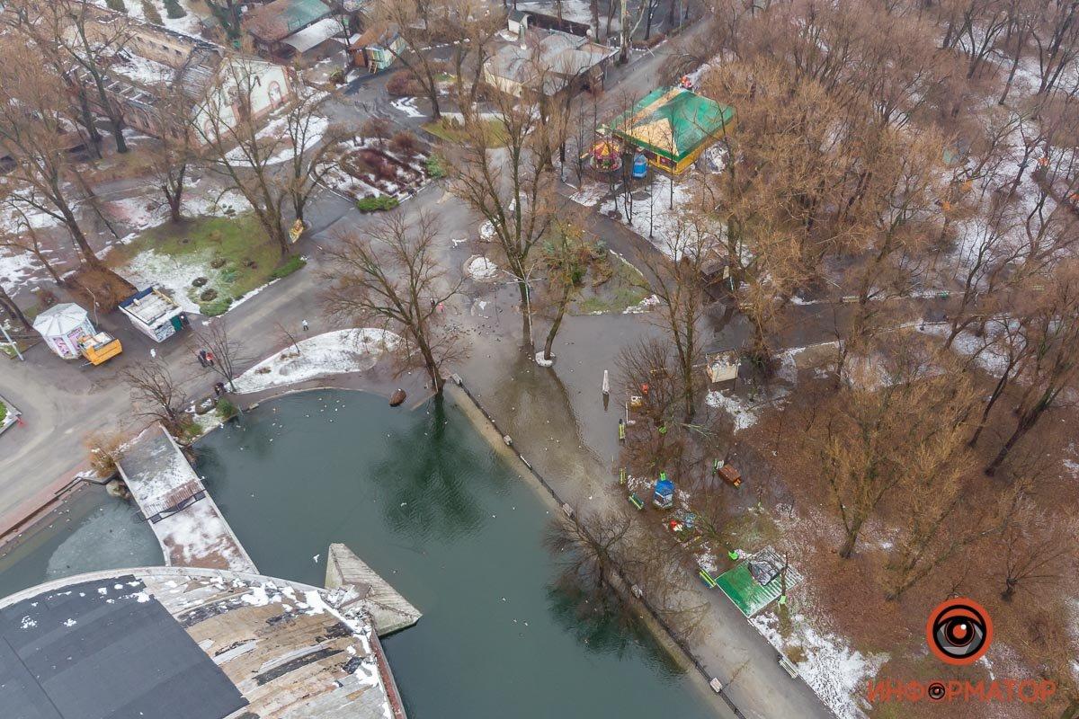 В Днепре затопило парк Глобы, фото-6