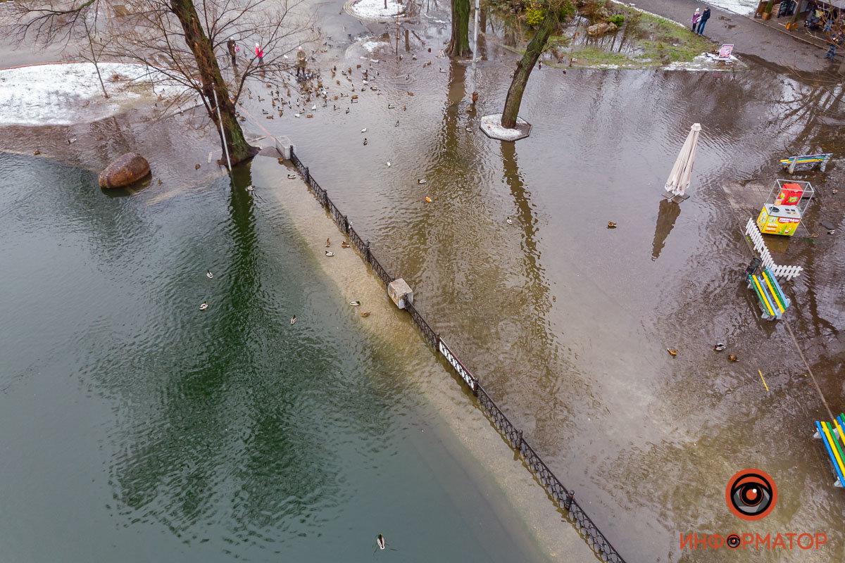 В Днепре затопило парк Глобы, фото-7