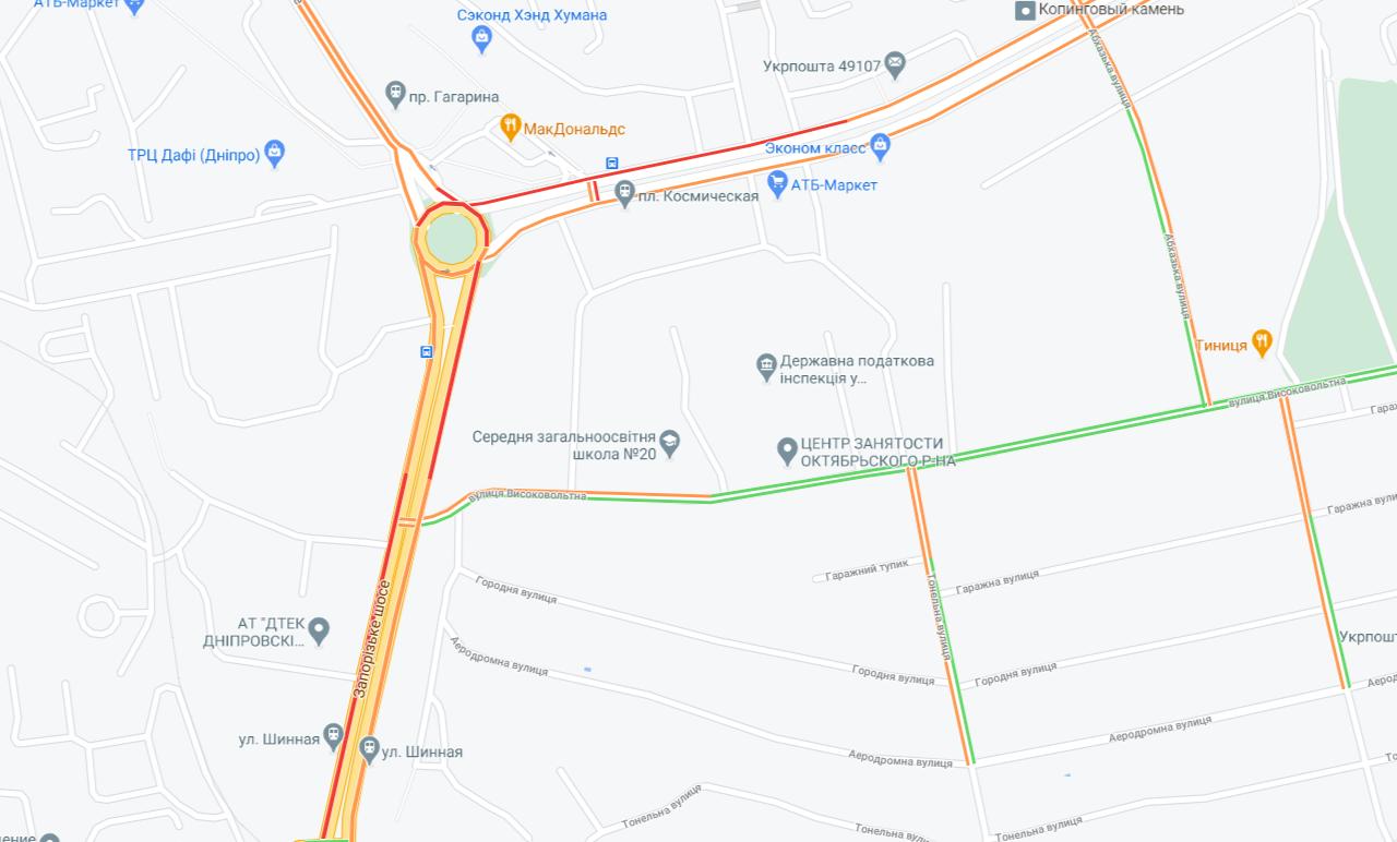 На каких улицах Днепра сейчас пробки, - АДРЕСА, фото-2