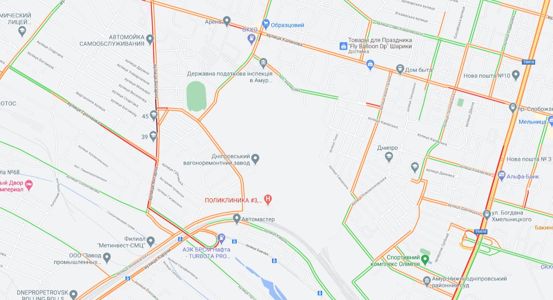На каких улицах Днепра сейчас пробки, - АДРЕСА, фото-5