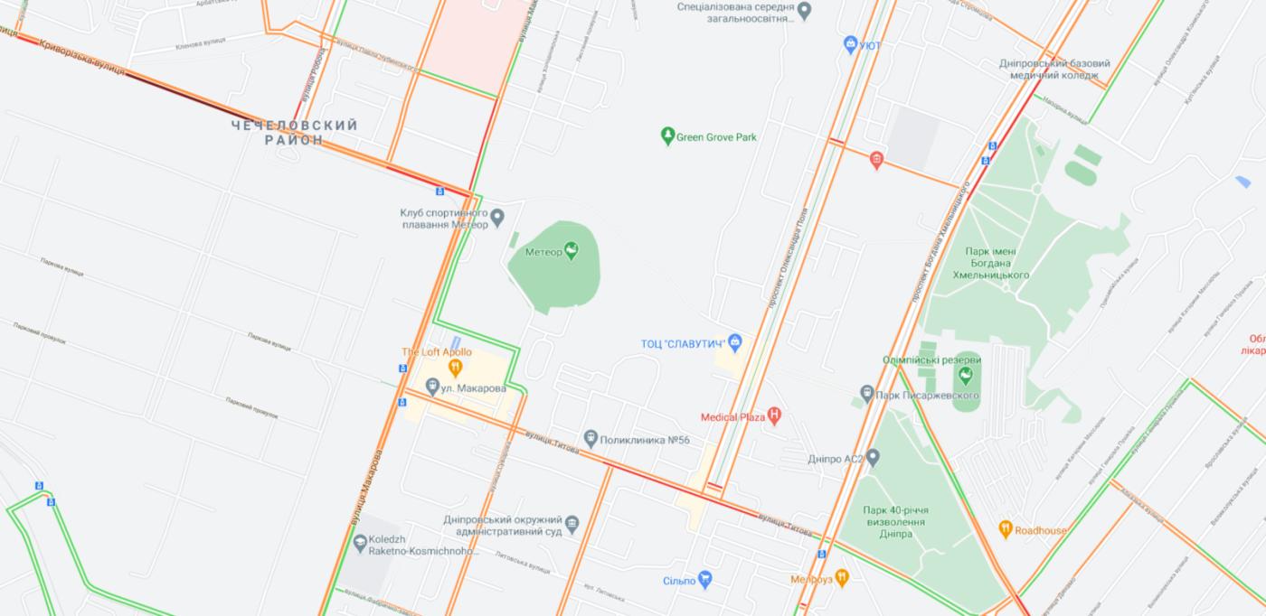 """Пробки в Днепре: какие улицы сейчас """"стоят"""", фото-4"""
