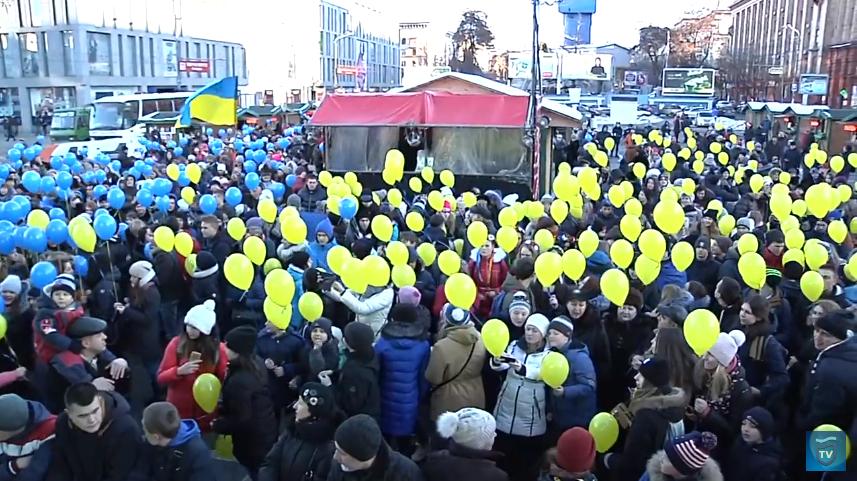 На площади Героев Майдана, 2017 год