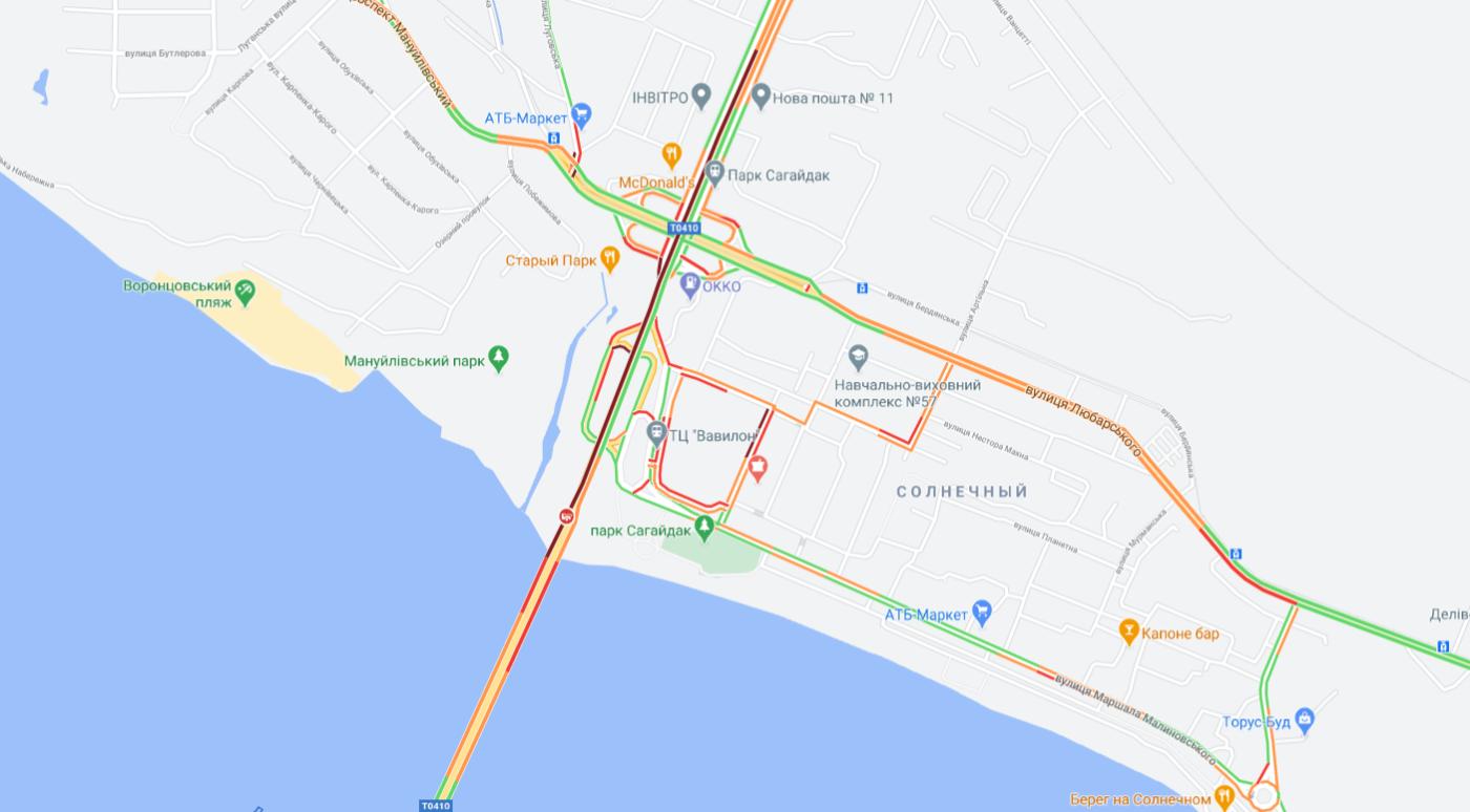 """Пробки в Днепре: какие улицы сейчас """"стоят"""", фото-1"""