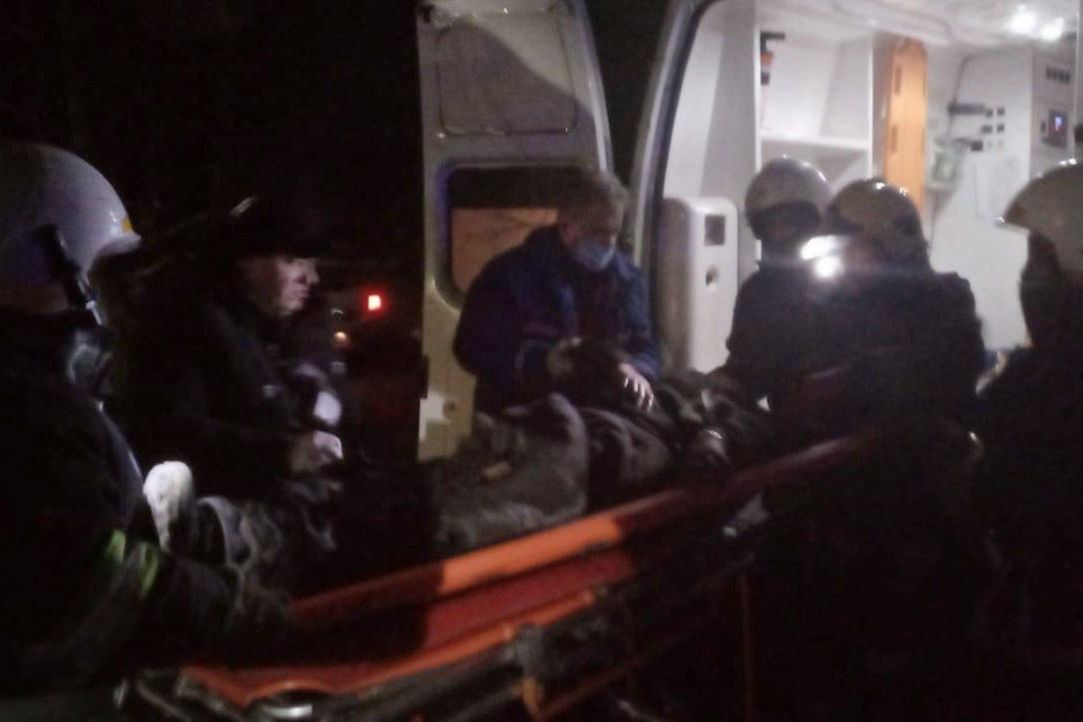 На Днепропетровщине во время пожара спасли мужчину, фото-1