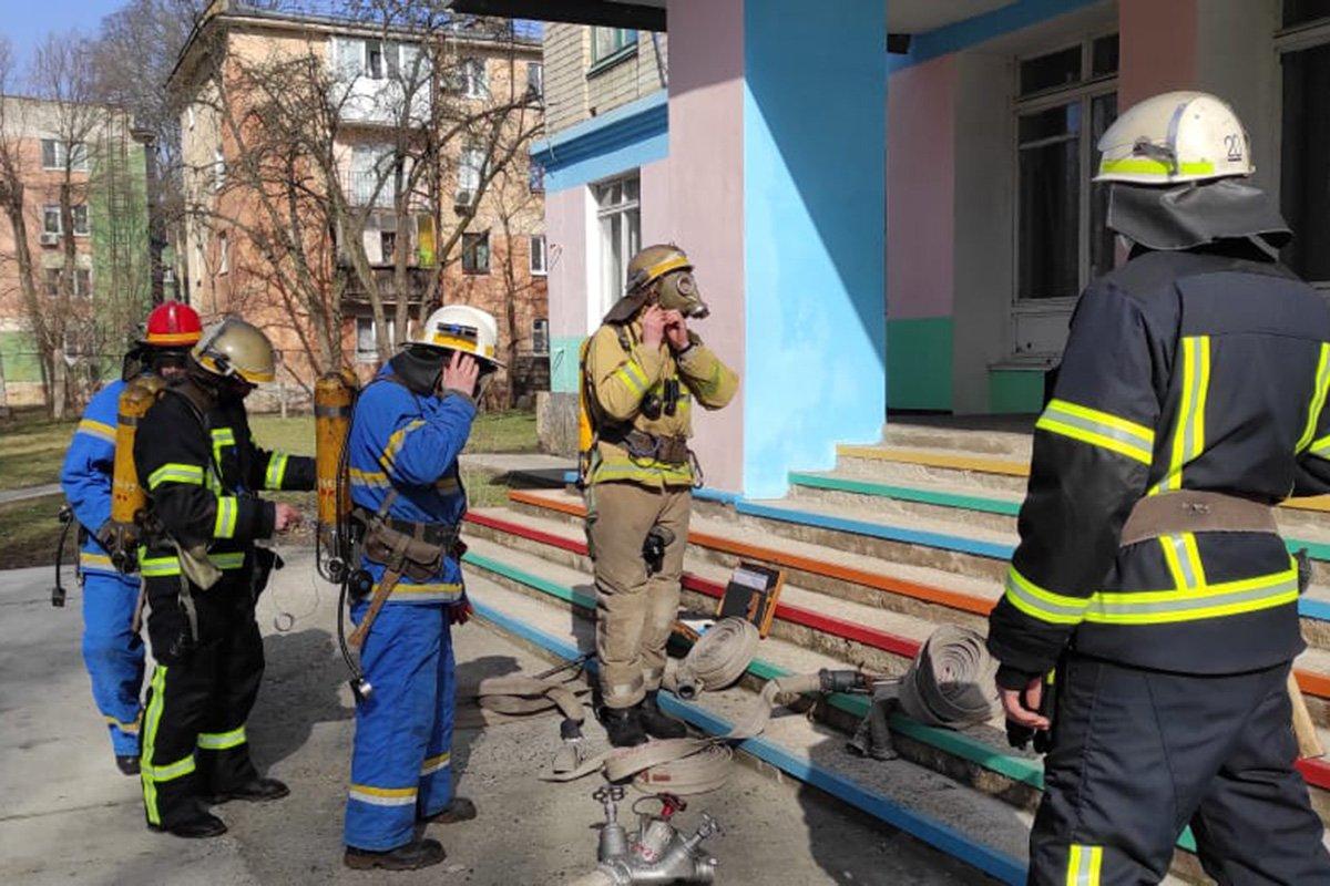На Днепропетровщине «горела» школа, - ФОТО, фото-1