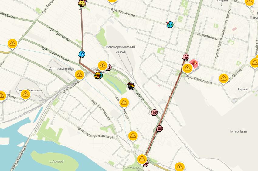 Пробки в Днепре: какие улицы сейчас «стоят», фото-2
