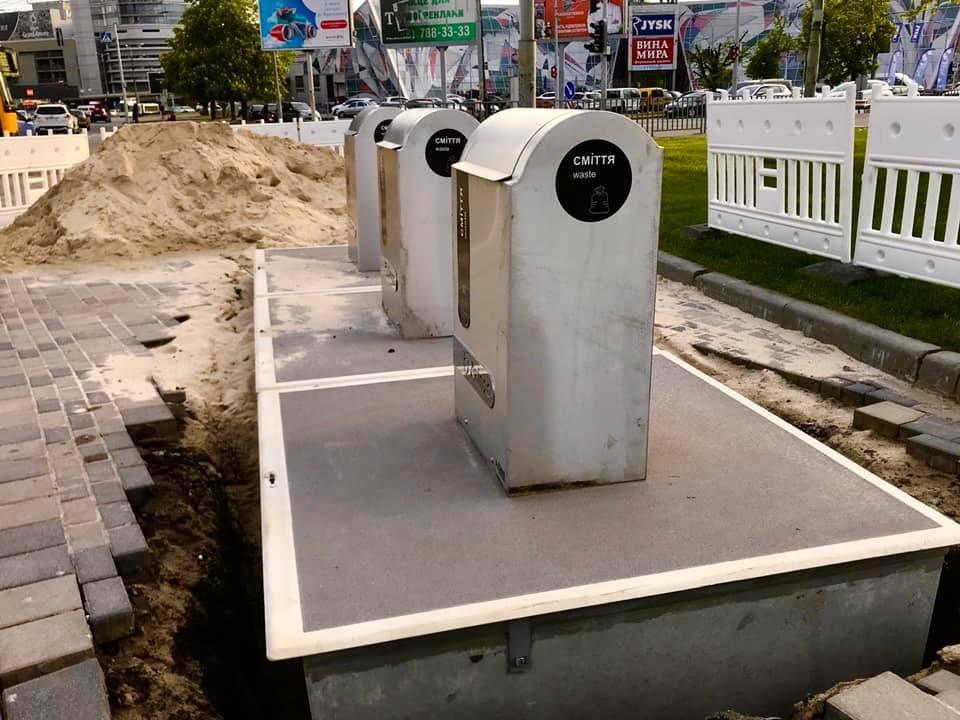"""В Днепре на Набережной установили первые подземные """"мусорки"""": подробности, фото-1"""