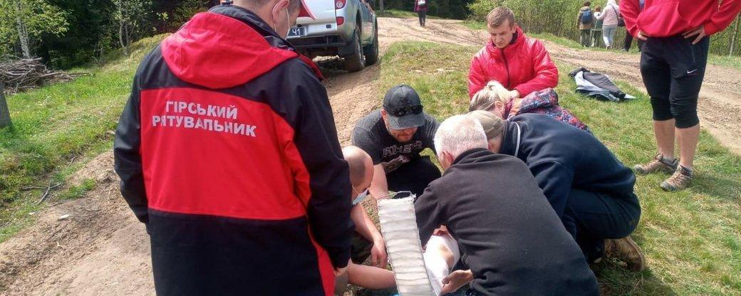 В Карпатах серьезно травмировалась днепрянка: ее транспортировали спасатели, фото-1