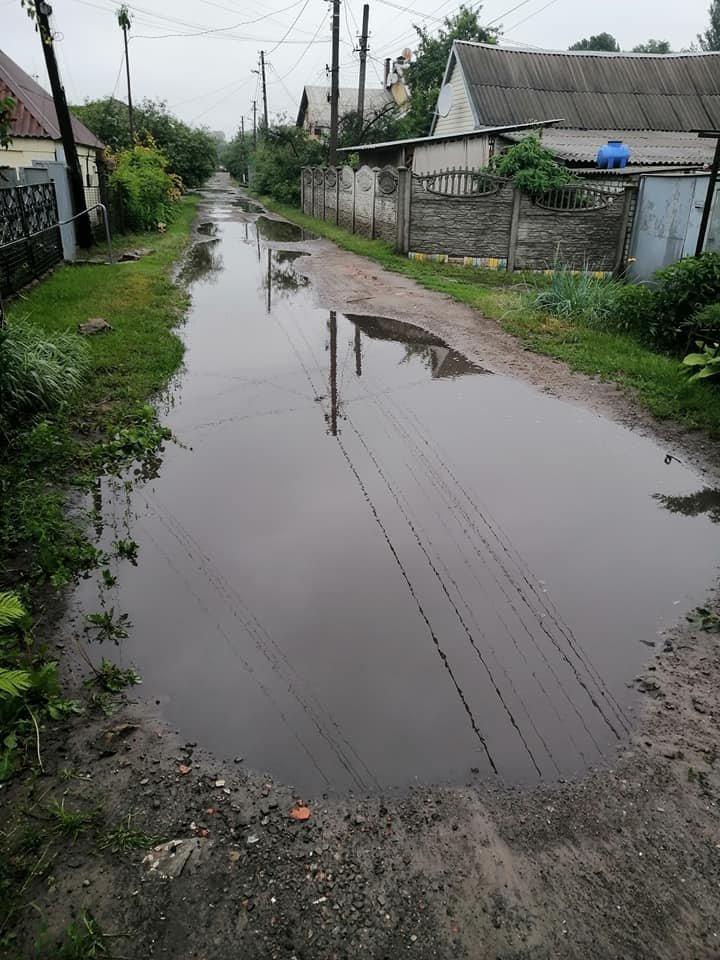 В одном из районов Днепра вышла река из берегов, фото-2