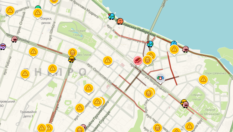 Вечерние пробки в Днепре: какие улицы сейчас стоят, фото-1