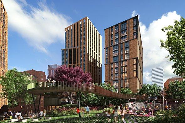 Пять метров к пропасти: в Днепре четырехэтажный жилой дом может сдвинуться в котлован будущей высотки , фото-1