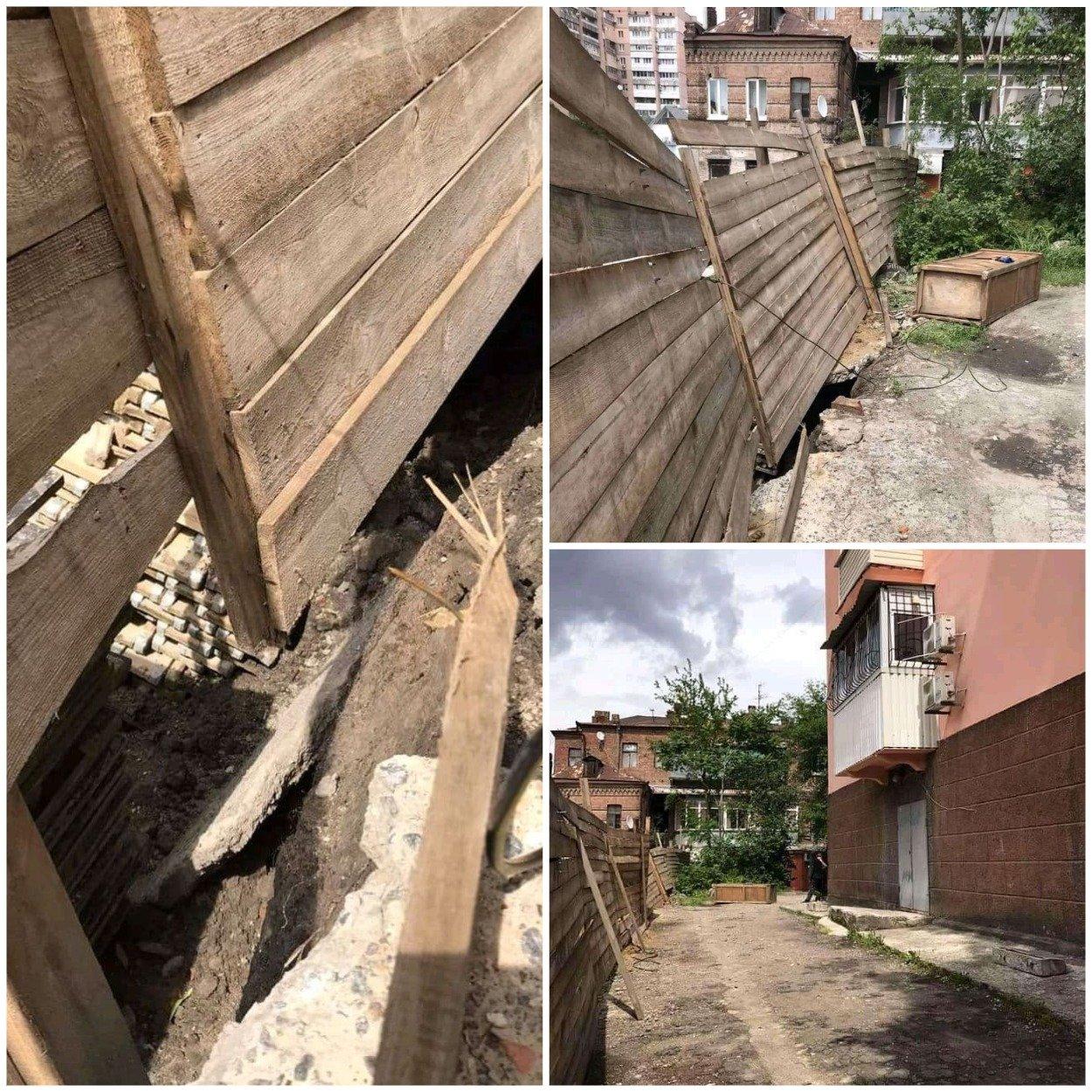 Пять метров к пропасти: в Днепре четырехэтажный жилой дом может сдвинуться в котлован будущей высотки , фото-2