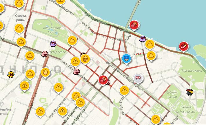 Пробки в Днепре из-за непогоды: какие улицы сейчас стоят, фото-1