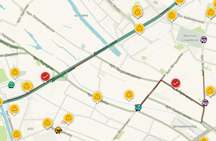 Пробки в Днепре: какие улицы сейчас «стоят», фото-5