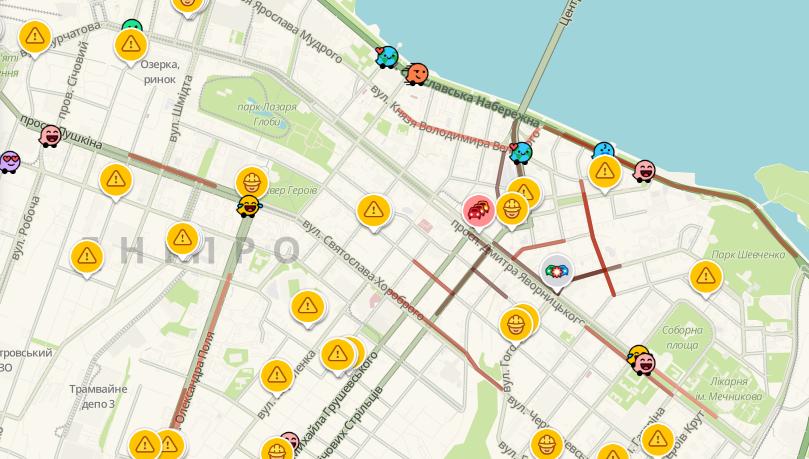 Пробки в Днепре: какие улицы сейчас стоят, фото-1