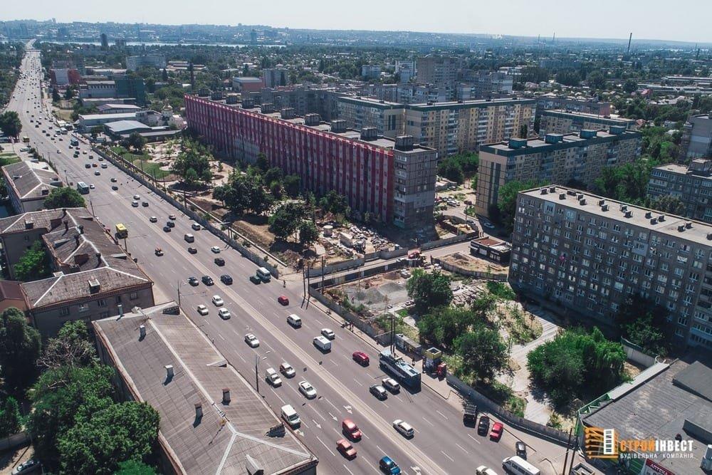 Процесс строительства нового сквера на проспекте Слобожанском показали с высоты птичьего полета, - ФОТО, фото-6