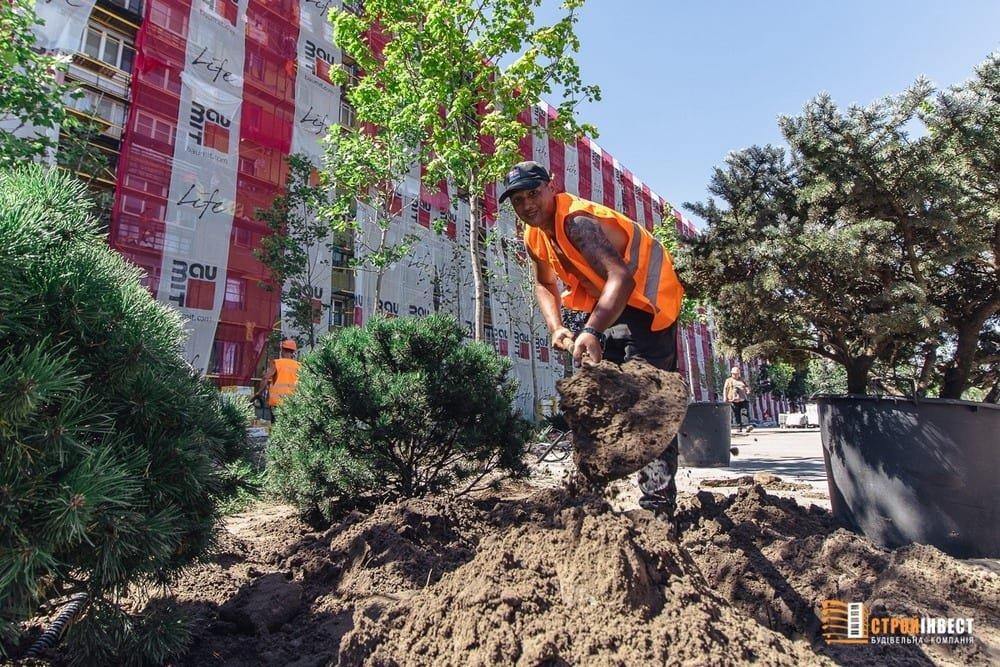 Процесс строительства нового сквера на проспекте Слобожанском показали с высоты птичьего полета, - ФОТО, фото-4