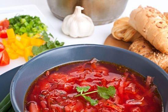 Рецепт как приготовить борщ с квашеной капустой