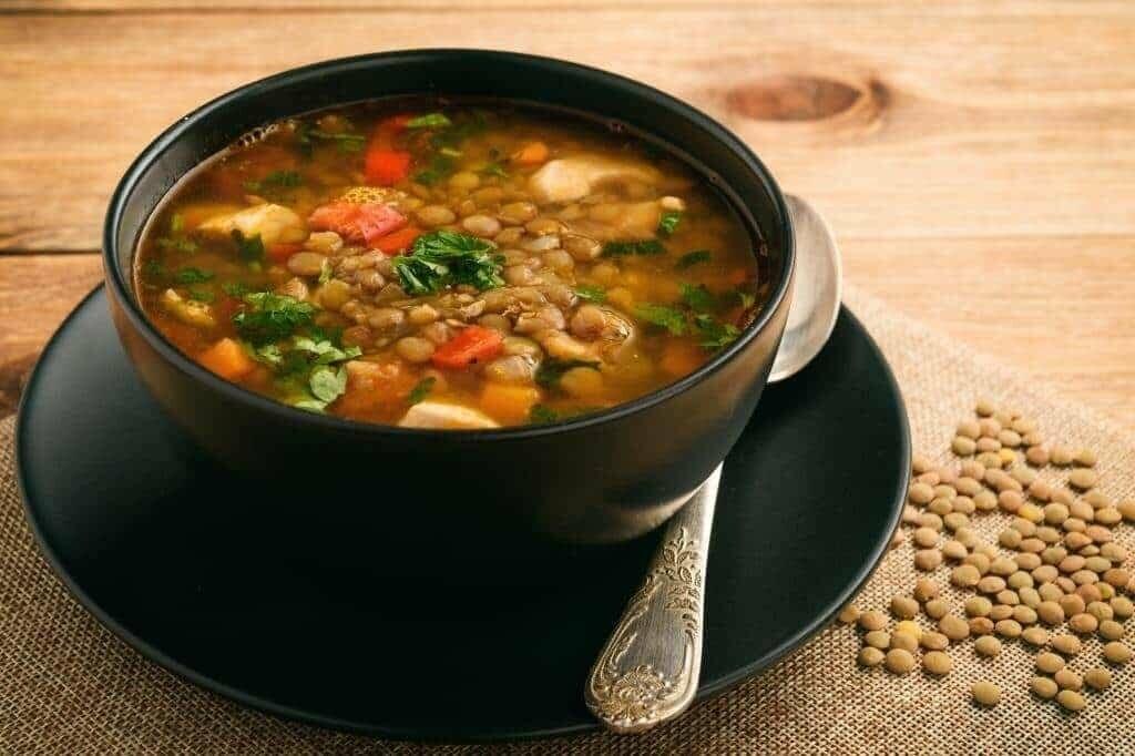 суп с чечевицы