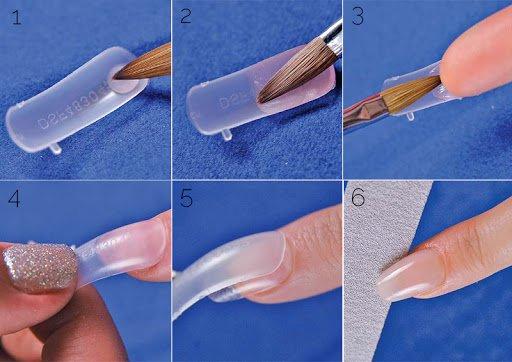наращивание ногтей на типсы
