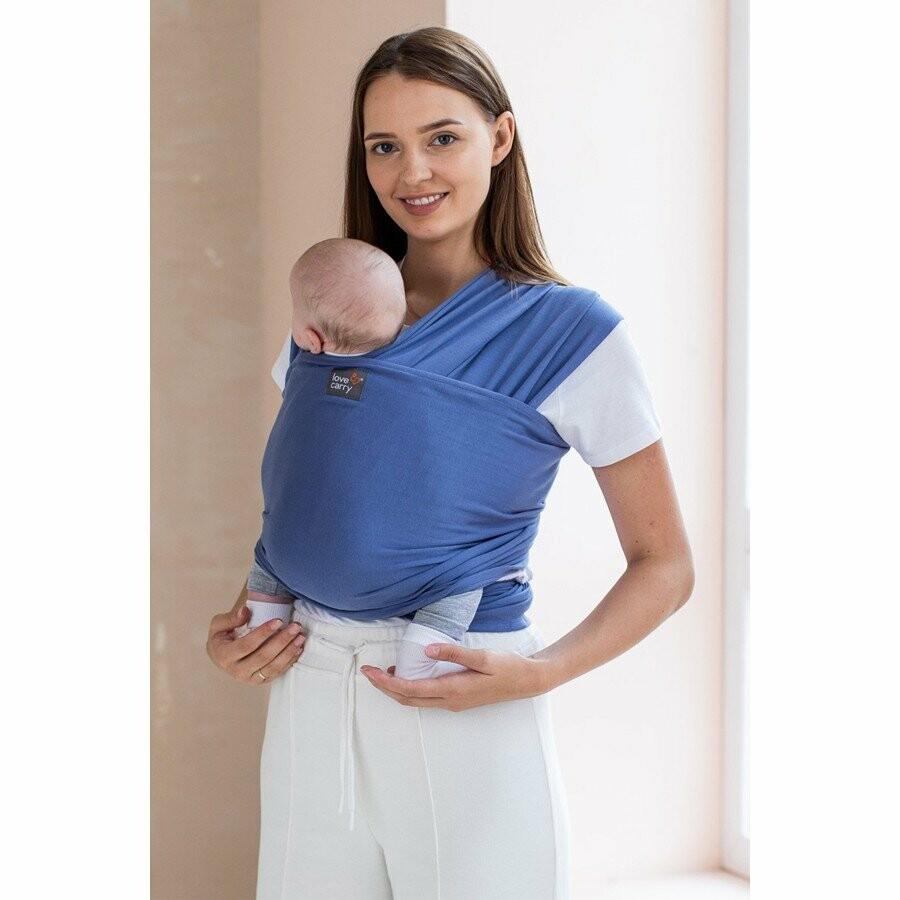 трикотажный слинг шарф для новорожденных